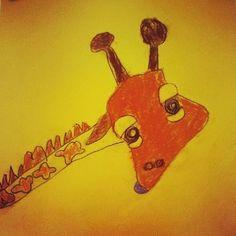 """Giraffe with Purple Tongue"" by MJF, age 5"