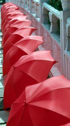 Red Umbrellas Photograph by Douglas Pike