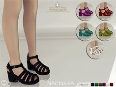 Madlen Narkissa Sandals New chunky sandals for your sim! You gotta love these! Come in 6 colours (leather texture). Joints are perfectly assigned. All LODs are replaced with new ones. You cannot...