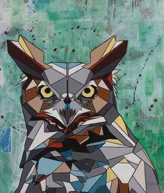 What does geometry Animal Illustrations For Many Purposes have to do with animals or vice versa? Actually, nothing but if you are into the process of drawi Polygon Art, Graffiti Murals, Graphic Art, Graphic Design, Art Reference, Wrapped Canvas, Pop Art, Moose Art, Abstract Art