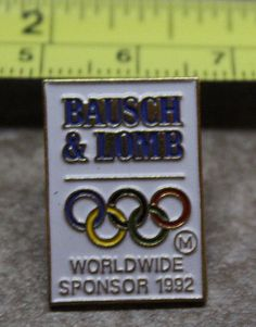 1992 Barcelona Bausch & Lomb Summer Olympics Collectible Pin