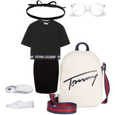 Chill summer day by ashley-freedom on Polyvore featuring moda, Opening Ceremony, Vans, Tommy Hilfiger, Joomi Lim and fashionset