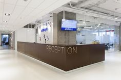 Playtech, Kiev, Ukraine by Soesthetic Group Reception Counter
