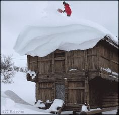 """Natural Beauty"" - There's more than one way to shovel a roof!"