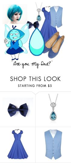 """""""Aquamarine"""" by redwolves87 ❤ liked on Polyvore featuring Blue Nile, CO, Gibson and Chloé"""