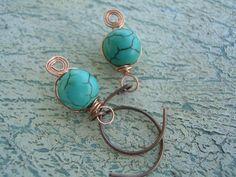 Turquoise Earrings by KottageKreations on Etsy, $8.00