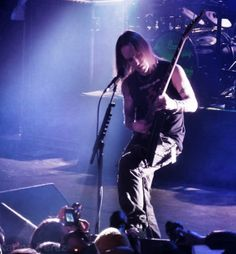 Alexi Laiho from Children of Bodom....shot taken from their recent stop in Toronto during the Halo of Blood tour.