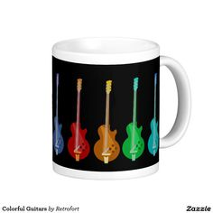 Colorful Guitars Coffee Mug