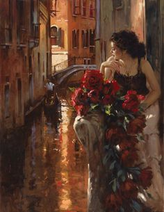 Richard Johnson Paintings | 40 x 30 Embellished Limited Edition Giclée On Canvas
