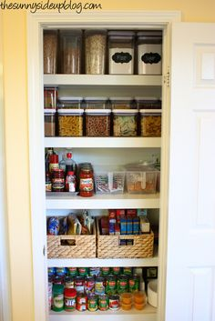 Sunny Side Up: Getting and Staying Organized - Pantry tips!