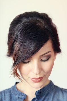 Hair How To: Volumized Ponytail Tutorial For Short Hair   Keiko Lynn