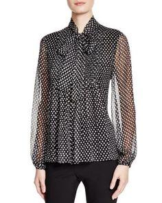 DIANE von FURSTENBERG Marjorie Blouse | Bloomingdale's. Love the 70's inspired,  tie-neck look.