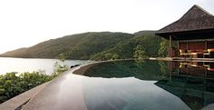 The view form the infinity pool.