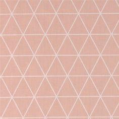Baumwolle m/Dreiecken Rosa/Weiß