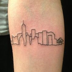 Or keep it simple. | 33 Stunning Landscape Tattoos That Will Remind You Of Home