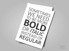 #Bold #Italic #design #people