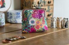 Coin purse made with Ciara print Liberty by CrimsonRabbitBurrow
