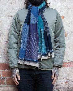 Kapital Wool Muffler. #panchoandlefty #kapital #bluehands #kountry #woolstole #indigo #boro #visvim #madeinjapan