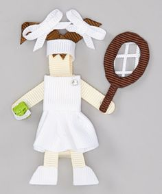 Take a look at this Tennis Player Clip by Three Bears Hair Bows on #zulily today!
