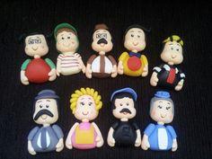 Turma do Chaves em Biscuit!! Sugestao de lembrancinha de aniversario para ima de geladeira ou chaveiro!!