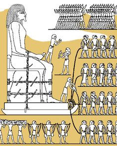 Pulling a colossal statue on a sledge from the stone quarries of Hatnub. From a wall painting in the tomb of Djehutiotep Khufu Pyramid, Great Pyramid Of Khufu, Ancient Symbols, Ancient Egypt, Young Earth Creationism, Egypt Museum, Ancient Near East, Information Poster, High Priest