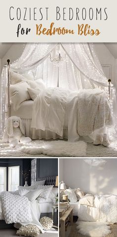 Coziest Bedrooms for Bedroom Bliss! • A round-up of fabulous ideas for the ultimate cozy bedroom!