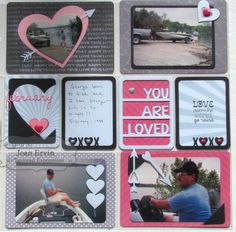 George's New Boat P&P Layout by Joan Ervin #Scrapbooking, #PocketsandPages