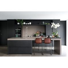 Just the right contemporary Kitchen furniture can make quite a difference both in comfort and eye appeal. See these kitchen furniture picks for ideas. Kitchen Room, Kitchen Remodel, Kitchen Decor, Modern Kitchen, Contemporary Kitchen, New Kitchen, Kitchen Dining Room, Home Kitchens, Kitchen Dinning
