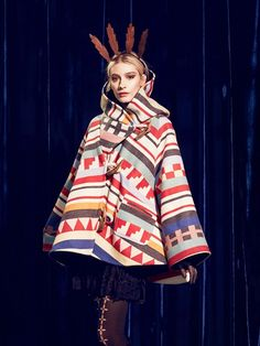 Lindsey Thornburg Tamiami Trail Trench Cloak // Multi-colored + printed cape
