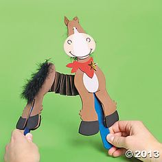 Accordion Horse Craft Kit for Melbourne Cup Barn Wood Crafts, Farm Crafts, Horse Crafts, Tractor Crafts, Animal Crafts For Kids, Toddler Crafts, Art For Kids, Summer Camp Crafts, Camping Crafts