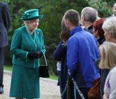 [The Queen outside Crathie Kirk] The Queen is deeply upset at the thought of England and Scotland breaking up in the historic Scottish referendum vote on September 18, 2014.
