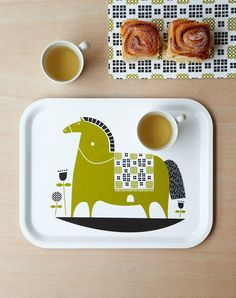 Rocking horse tea tray by roddyandginger on Etsy, $45.00
