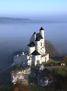 14th-century Bobolice Castle, Poland.
