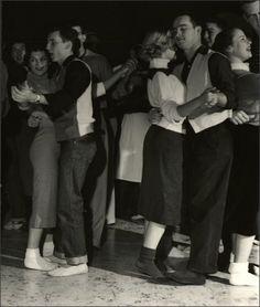 Slow dancing at the Sock Hop, 1953