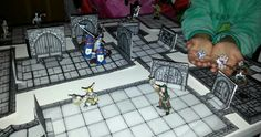 Playing with my son Erik, with his dungeon, madr with Inked Adventures Tiles