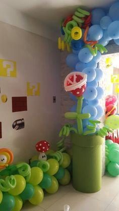 Mario Bros party ideas decoración