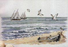 **Cantinho da Lih**: Quadro Paisagem Mar, em Ponto Cruz!                                                                                                                                                      Mais