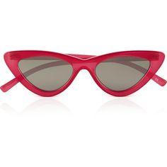 Le Specs The Last Lolita Sunglasses (5.170 RUB) ❤ liked on Polyvore featuring accessories, eyewear, sunglasses, pink, pink glasses, uv protection sunglasses, acetate glasses, beach sunglasses and pink cat eye glasses