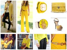 Moda femenina color amarillo