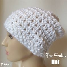 Free crochet pattern for The Frolic Hat. The slouch hat pattern is given in one size only, but is easy to adjust to any size needed.