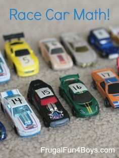 Use Hot Wheels car races to teach counting, number recognition, and writing numbers!