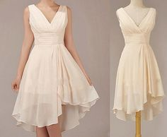 Champagne Bridesmaid Dress Short Bridesmaid Dress by LovingDresses, $77.00