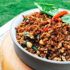 Thai minced beef with basil n chili