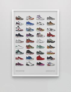 Assorted Sneaker  Poster by KickPosters.com