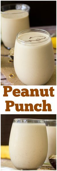 Caribbean Peanut Punch - rich and creamy drink of blended milk and peanut butter with banana and oats enjoyed throughout the Caribbean Caribbean Drinks, Carribean Food, Caribbean Recipes, Guyanese Recipes, Jamaican Recipes, Jamaican Drinks, Jamaican Dishes, Smoothie Drinks, Smoothie Recipes