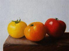"""Tomato Colors"" - Original Fine Art for Sale - © Jonathan Aller"