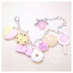 Braccialetto Mix Charms Bracelet Fimo Clay Cute