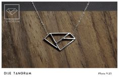 TANGRAM JEWELRY Tangram pendant silver .925 Tangram, Arrow Necklace, Pendant, Silver, Jewelry, Products, Jewlery, Money, Jewels