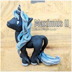 Maximus II the Unicorn by MiniMythicals - polymer clay unicorn sculpture Polymer Clay Sculptures, Sculpture Clay, Pearl Ex, Clay Set, Polymer Clay Dragon, Good Things Take Time, Clay Design, Baby Sleep, Chibi