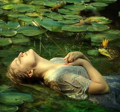 Frog princess by Cocodrillo on DeviantArt Mr Toad, Living Pool, Frog Princess, Keep Dreaming, Pond Life, World Of Color, The Girl Who, Painting Inspiration, The Dreamers